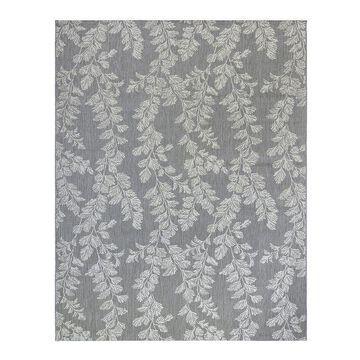 Laura Ashley Waxham Indoor Outdoor Gray Cream Area Rug, Grey, 8X10 Ft