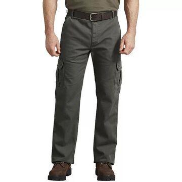 Men's Dickies FLEX Regular-Fit Tough-Max Duck Cargo Pants, Size: 34X34, Green