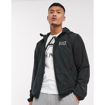 Armani EA7 Core ID hooded logo jacket in black