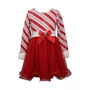 Bonnie Jean Girls' Girls 4-6X Candy Cane Stripe Dress - -