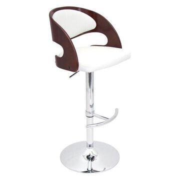 Lumisource Pino Barstool, Cherry/White