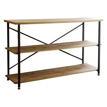 Abbyson Living Gloria Industrial TV Stand, Natural