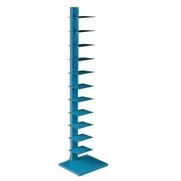 Southern Enterprises Jersey Spine Tower Shelf - Bright Cyan