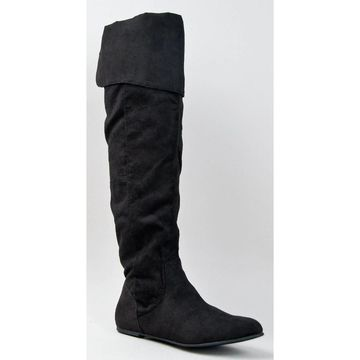 Qupid Proud-09 Cuff Slouchy Flat Boot