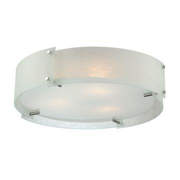 Lite Source Kaelin Modern Frosted Glass Shade 3-light Flush Mount