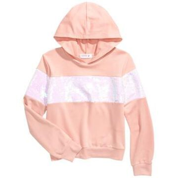 Beautees Big Girls Flip Sequins Hoodie