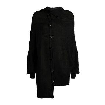 Yohji Yamamoto Patchwork Button-Up Cardigan