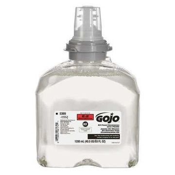 GOJO 5369-02 TFX Yellow Foam Hand Soap, Unscented, 1200ml Cartridge