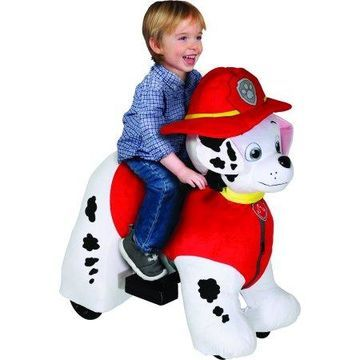 Paw Patrol 6 Volt Plush Marshall Ride-On For Kids by Dynacraft with Pup House Included!