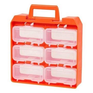 Iris 6 Compartment Utility Case - Clear