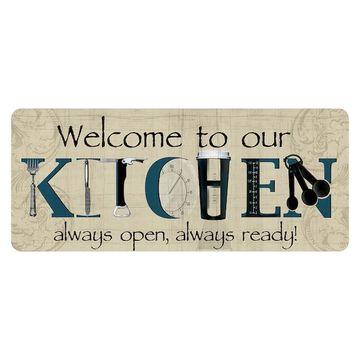 Bungalow Flooring ''Welcome to Our Kitchen'' Indoor Outdoor Mat Runner - 22'' x 52''