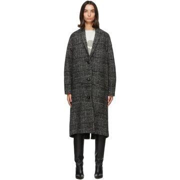 Isabel Marant Etoile Black and White Elayo Coat