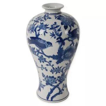 A&B Home Ren Bird Vase In Blue