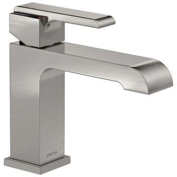 Delta Ara Stainless 1-Handle 4-in Centerset WaterSense Bathroom Sink Faucet with Deck Plate | 567LF-SSLPU