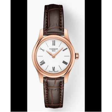 Tissot T-Classic Tradition White Dial Leather Strap Women's Watch T063.009.36.018.00 T063.009.36.018.00