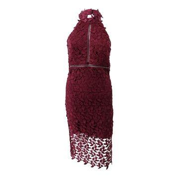 Bardot Women's Lace Illusion Halter Dress