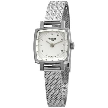 Tissot Lovely Silver Diamond Dial Ladies Watch T058.109.11.036.00