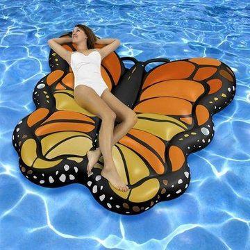 Swimline Vinyl Giant Monarch Butterfly Suntan Mattress Pool Float, Black
