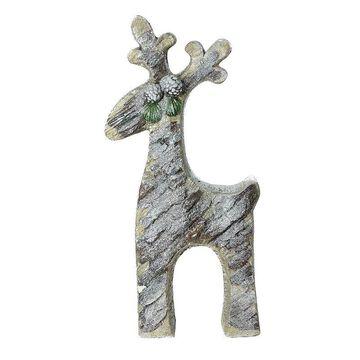 Northlight Seasonal Gray Rustic Glittered Christmas Reindeer Table Top Decoration, Grey