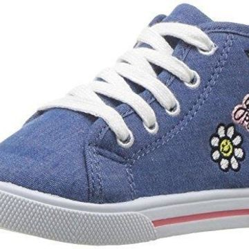 Carter's Girls' Ginger3 Novelty High-Top Casual Mary Jane Flat, Blue, 9 M US Toddler
