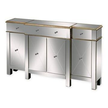 Sterling Industries Bordeaux Crystal Handles Buffet Server in Gold