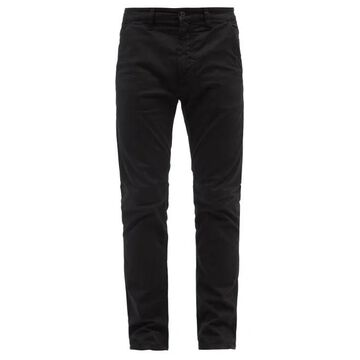 Nudie Jeans - Slim Adam Organic Cotton-blend Chino Trousers - Mens - Black
