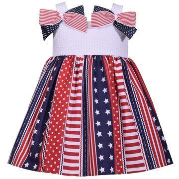 Toddler Girl Bonnie Jean Seersucker Bow Dress