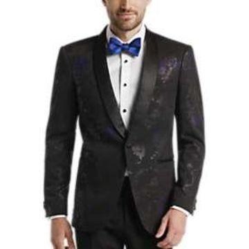 Egara Blue & Black Floral Dinner Jacket