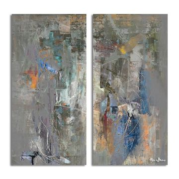Ready2HangArt 'Bueno Exchange LXVIII' Canvas Diptych Art Print