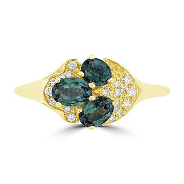 La Vita Vital 18K White Gold, Brazilian Alexandrite 1.00cts & Diamond 0.10cts TDW (SI1-VS, G-H) Ring - Green