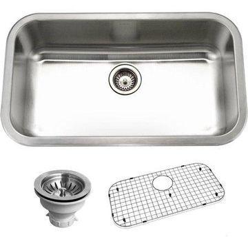 Houzer BSG-3018 Belleo Series Top-Mount Large Single-Bowl Kitchen Sink