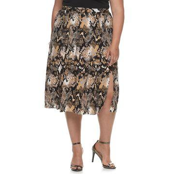 Plus Size Jennifer Lopez Pleated Skirt