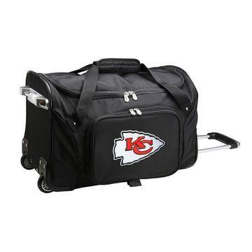 Denco Kansas City Chiefs 22-Inch Wheeled Duffel Bag