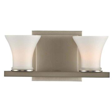 Kalco Morro Bay 2 Light Bath Vanity Bar, Satin Nickel