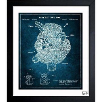 Oliver Gal 'Furby 2003' Framed Blueprint Art