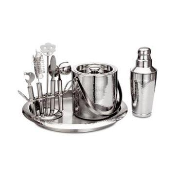 Godinger Hammered Stainless Steel 9-Pc. Barware Set