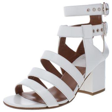 Laurence Dacade Womens Rela Leather Block Heel Dress Sandals