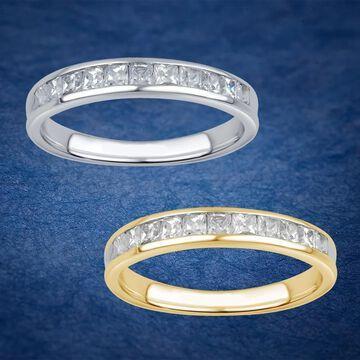 Divina 10KT Gold 1/2ct TDW 11-stone Princess Diamond Wedding Band