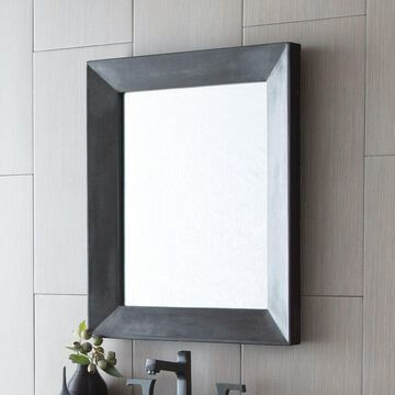 Portola Rectangle Concrete Mirror - A/N