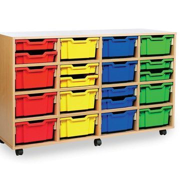Wood Designs 991294Z 32-Glide Tray Storage Mobile Unit without Trays