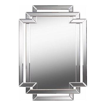Kenroy Home Linas Silver Wall Mirror, Grey, 44X31.5
