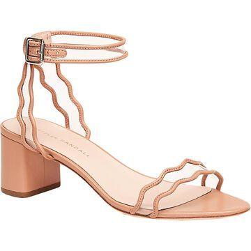 Loeffler Randall Womens Heel Sandals Scalloped Ankle Strap - coqui