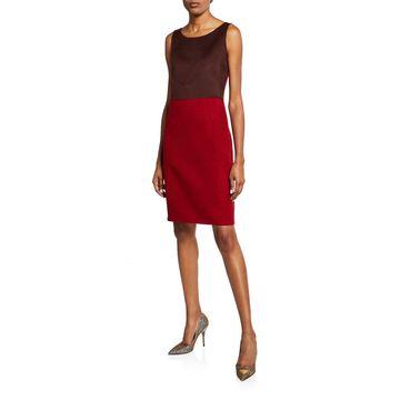 Fitted Silk-Felt Dress