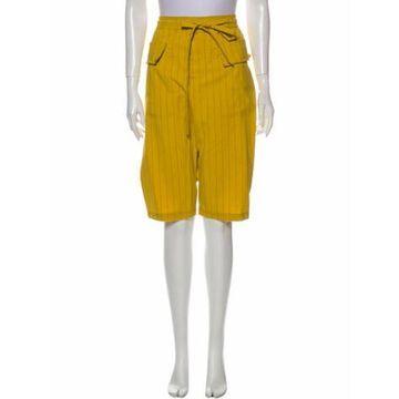 Knee-Length Shorts Green