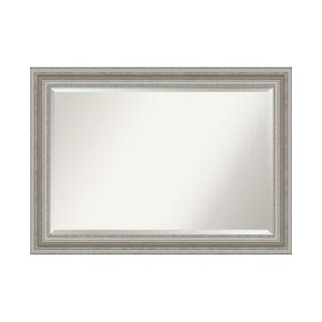 "Amanti Art Parlor Silver-tone Framed Bathroom Vanity Wall Mirror, 41.5"" x 29.50"""