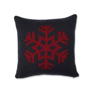 "Pillow Perfect Glitzy Snowflake Throw Pillow, 18"" L x 18"" W"