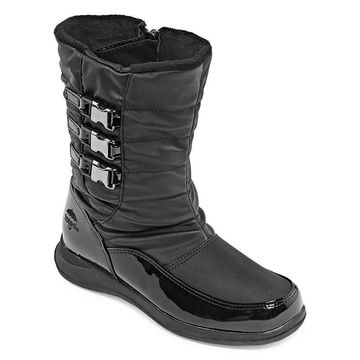 Totes Womens Giselle Waterproof Winter Boots Flat Heel