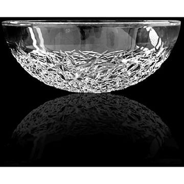 WS Bath Collections Crystal RD Crystal Vessel Bathroom Sink - Clear