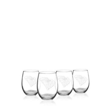 Cathy's Concepts My State Stemless Wine Glasses - South Carolina -