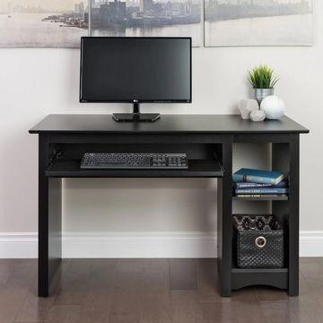 Prepac Black Computer Desk